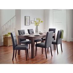 Adaline Walnut Dining Table and 6 Chairs at Homebase -- Be inspired and make your house a home. Buy now.