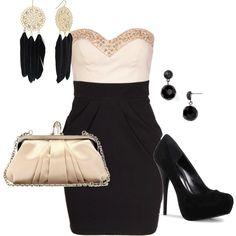 black and gold ready for elegant night :), created by swirlybanana