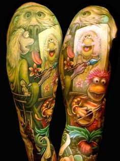 This sleeve is dedicated to Fraggle Rock. We especially love the little Doozer sitting in the middle - Inked Magazine