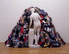 Venus of the Rags, 1967 by Michelangelo Pistoletto. Conceptual Art. installation