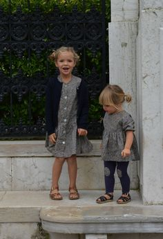 Liberty print sweetness (and knee patches!) from Milou & Pilou. -How. Cute. Is. This.