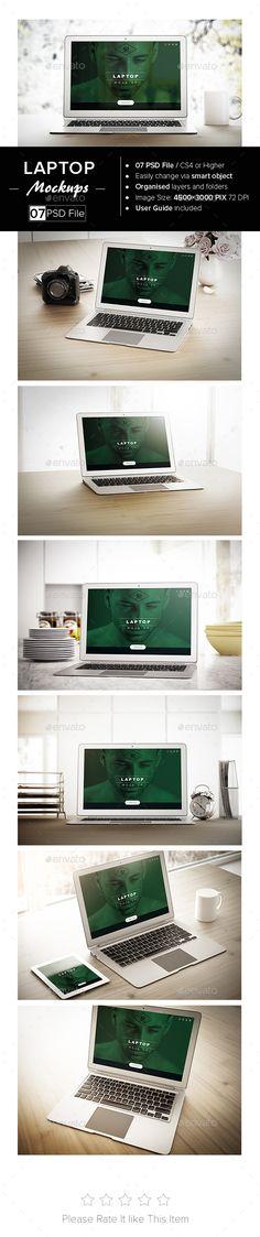 Laptop MockUp — Photoshop PSD #macbook #presentation • Available here → https://graphicriver.net/item/laptop-mockup/13488059?ref=pxcr