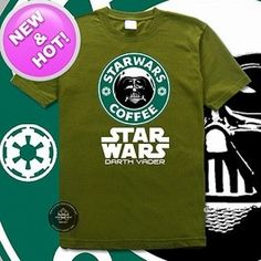 Star Wars Tshirt - Star Wars Coffee  Only two of my most favorite things.
