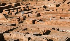Mohenjo-daro - Pakistan. Built around 2600 BCE, it was one of the largest settlements of the ancient Indus Valley Civilization, and one of the world's earliest major urban settlements.