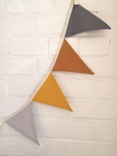 Amber bandiera Bunting Garland tessuto neutro della | Etsy