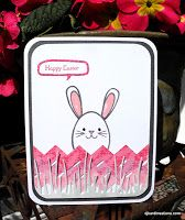 """Easter Egg Bunny ~ and a chevron """"fence"""""""