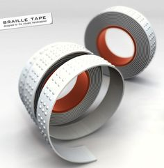 Braille by hand tape...you simply remove the dots that aren't needed to write in Braille!  Brilliant!!!
