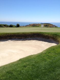 July 2nd, 2015. Now that's a nice looking bunker face. #twitterphotos #yyjphoto #golfcourse #westcoast #victoriagolfclub