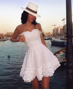 13694767_307818992887945_1696372140_n Chic Outfits, Summer Outfits, Summer Dresses, Casual Dresses, Short Dresses, Fashion Dresses, Textiles Y Moda, Blue Evening Dresses, Little White Dresses