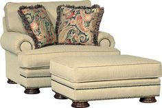Mayo 6900 Chair & Ottoman - Wall Street Wheat