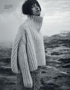 """Over-size turtleneck sweater"" Sabrina Ioffreda for Vogue Ukraine January 2016 by Agata Pospieszynska."