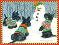 Scottie Christmas Cards
