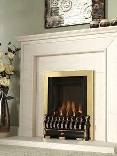 Nevada, Gas Fire, Brass, Coal Fuel Bed Gas Fires, Fireplaces, Nevada, Brass, Contemporary, Bed, Design, Home Decor, Fireplace Set
