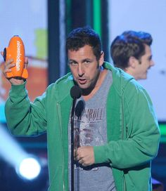 Adam Sandler at the Nickelodeon Kids' Choice Awards in LA on Saturday