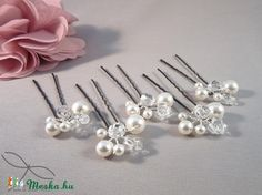 Meska -  Esküvői hajdísz - gyöngyös bogyós Edina09 kézművestől Bobby Pins, Hair Accessories, Beauty, Hair Pins, Hair Accessory, Cosmetology