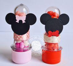 Lembrança Infantil Mickey e Minnie - mini tubetes