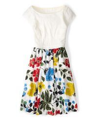 Rosalyn Dress (Multi Painterly Floral)