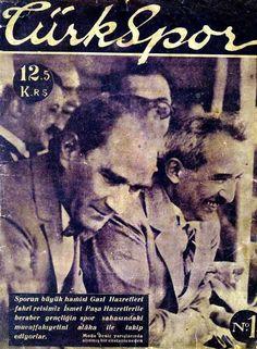 1929<br /><br />Türkspor DergisiTürkspor Dergisi'nin 1.sayısı. Cumhurbaşkanı Mustafa Kemal Paşa ve Başbakan İsmet Paşa bir aradalar.