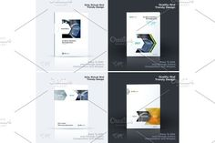 Annual report, business abstract vector template. Brochure desig. Illustrations