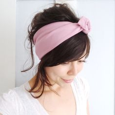 Tie Up Headscarf Dusky Pink  £12.00