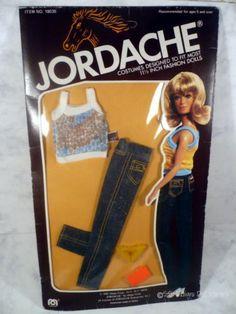 Barbie Size JORDACHE Jeans Knit Tank Pilgrim SHOES NOS Doll Clothes Mego