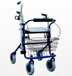 Steel Rollator with Cane holder