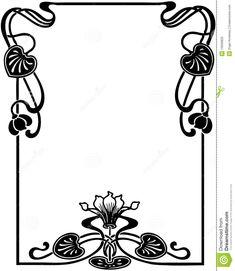 Floral Art Nouveau Frame Royalty Free Stock Photo - Image: 19939825