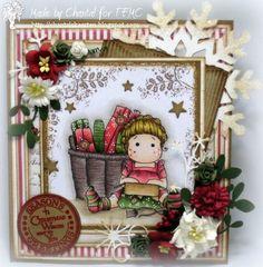 Carte fatte da Chantal: Tempo per la sfida Magnolia di Natale # 04