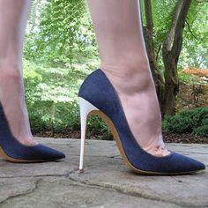 03e85219cc Moraima Snc 2019 Newest Denim Blue High Heel Shoes for Woman Sexy Pointed  Toe Thin Heels