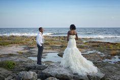 Newlyweds looking stunning! at Barceló Maya Beach Resort in Riviera Maya.  Photo by Ocean Photo Studio