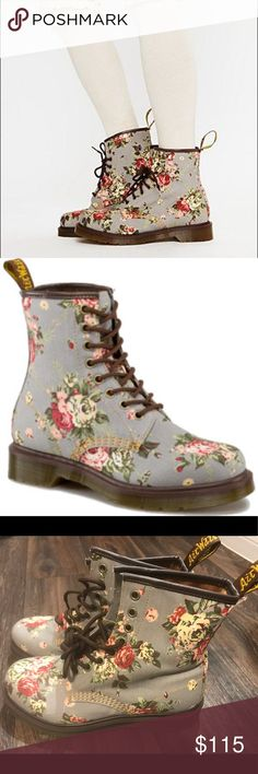 9854c6c83f960 NEW Dr. Martens Castel GREY VICTORIAN FLOWERS New without tags! Never worn.  Beautiful