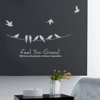 birds feel good Feel Good, Wall Decals, Feels, Birds, Creative, Home Decor, House, Decoration Home, Room Decor