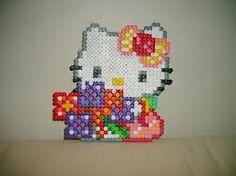 hello kitty flowers /  Perler Beads - Hama perlen - Bügelperlen