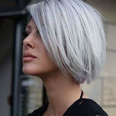 Best 25+ Short silver hair ideas on Pinterest | Silver hair styles, Silver hair colors and ...