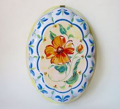 Painted Metal Decorative Jelly Mould by Latrouvaille on Etsy