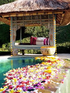 "beautiful poolside villa, ubud, bali. Discover and collect amazing bucket lists created by local experts in ""City is Yours"" http://www.cityisyours.com/explore. #Bali #travel #list #BucketList #local #restaurant #hotel #bar"
