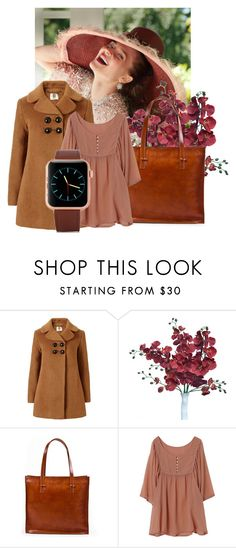 """""""Meckela bag. Brown leather suitcase bag."""" by ragazzinabella ❤ liked on Polyvore featuring Orla Kiely, women's clothing, women, female, woman, misses and juniors"""