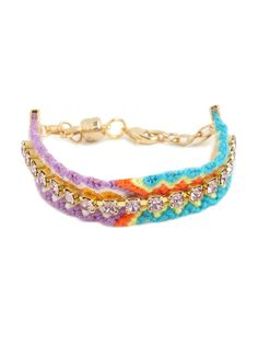 the traditional friendship bracelet gets a shot of girlish glamour #summersale