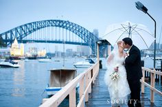 SocietyBlog_Rain-37 Sydney Bridge #Wedding