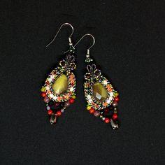 Ethnic Soutache Earrings Modern Boho Chic Eye catching image 5