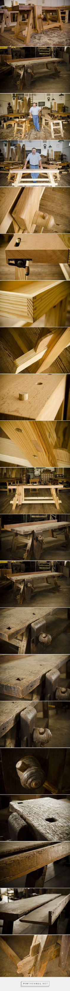 The Portable Moravian Workbench at The Woodwright's School - by WoodAndShop @ LumberJocks.com ~ woodworking community - created via http://pinthemall.net