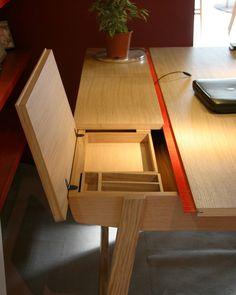 Clever cord management Diy Desk Modern Office Desk Home Desk Home Office Furniture & 158 best Desk Ideas images on Pinterest | Desk Office ideas and ...