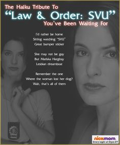 """The Haiku Tribute To """"Law & Order: SVU"""" You've Been Waiting For"""