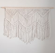 Large Macrame Wall Hanging by getknottywithkelly on Etsy https://www.etsy.com/listing/469474545/large-macrame-wall-hanging