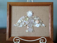 Angel Button Art Christmas Decor  Framed by EclecticComfort