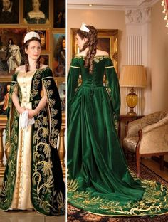 Russian court dress. Modern work according to the fashion of the 19th century.