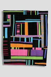 Floor Plan map art quilt by Sarah Bearup-Neal: Studio Quilts