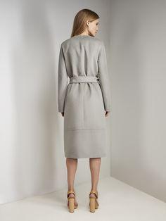 Пальто женское демисезонное цвет полынь, Пальтовая ткань, артикул 3017790p00047