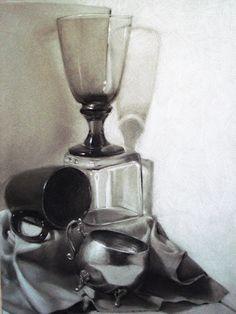 Charcoal Still life by MaGLIL.deviantart.com on @DeviantArt
