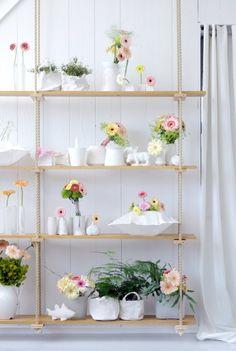 Kast vol bloemen
